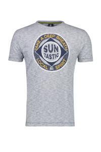 LERROS T-shirt met printopdruk vintage blue, Vintage blue
