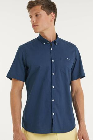 regular fit overhemd blauw