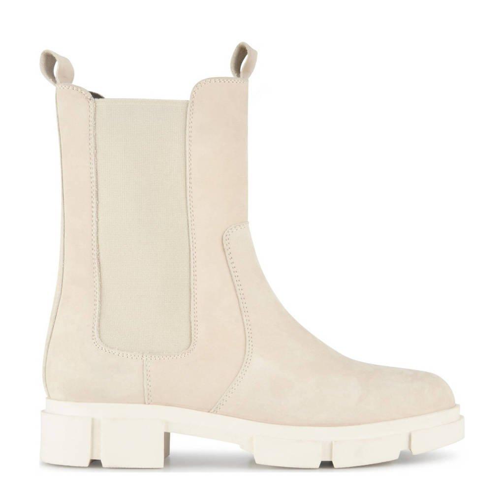 PS Poelman Lynn  hoge nubuck chelsea boots beige, Beige
