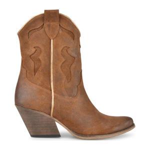 Dixie  leren cowboylaarzen bruin/goud