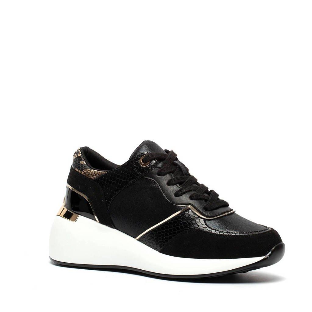 Madden Girl   chunky sneakers met slangenprint zwart, Zwart
