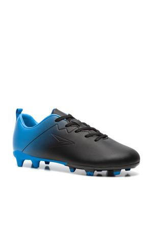 Jr. voetbalschoenen zwart/blauw