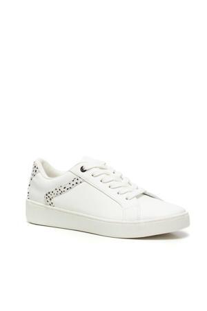 sneakers met dierenprint wit
