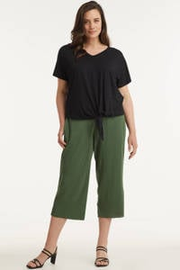 GREAT LOOKS plissé culotte, Khaki
