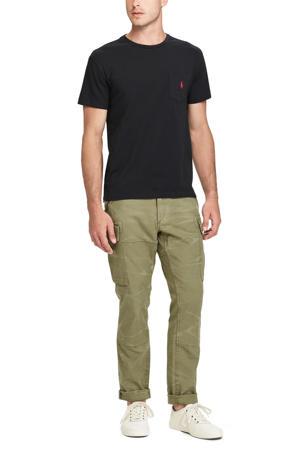 +size T-shirt Plus Size met logo zwart