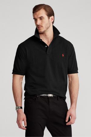 +size regular fit polo Plus Size zwart