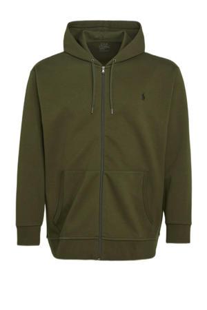 +size hoodie Plus Size olijfgroen