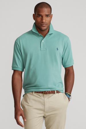 +size regular fit polo Plus Size mintgroen
