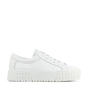 D1922  leren sneakers wit