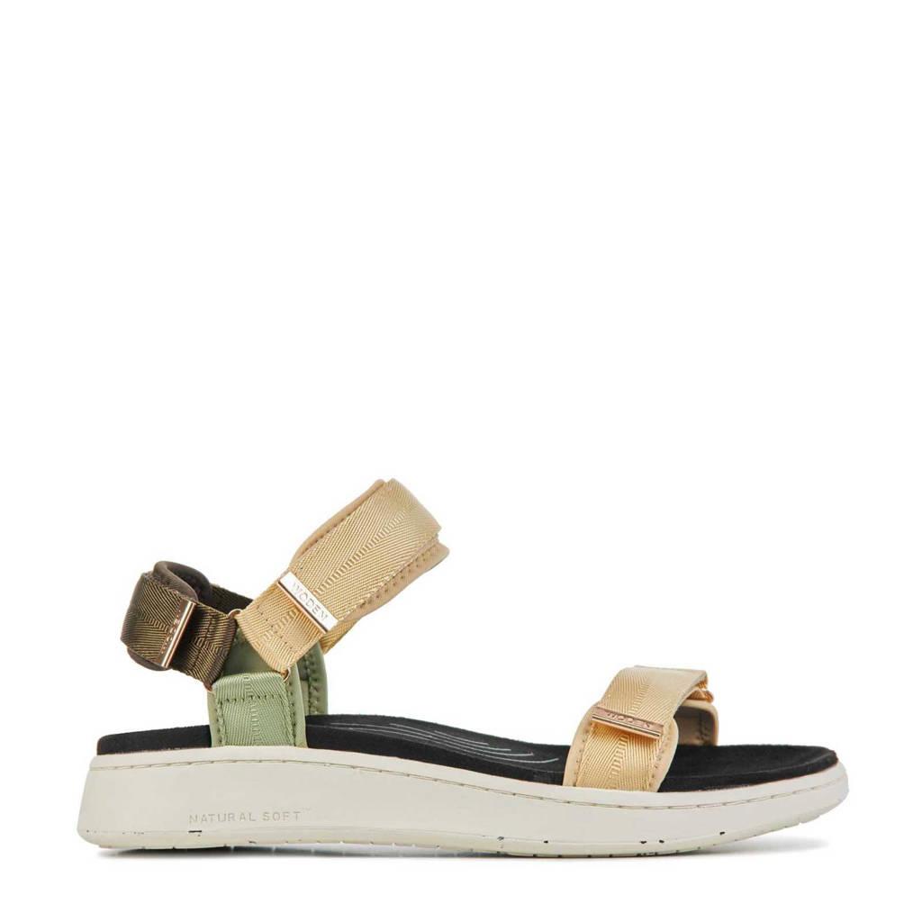 Woden Line  sandalen beige, Beige