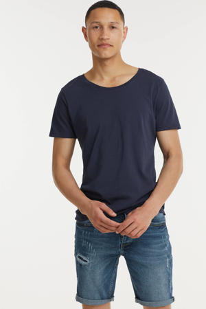regular fit jeans short Wave dark blue stone