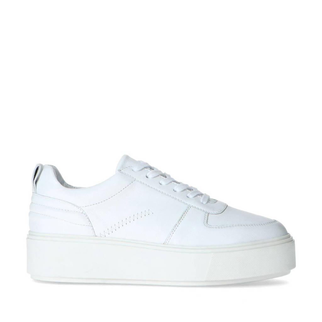 Sacha   leren plateau sneakers wit, Wit