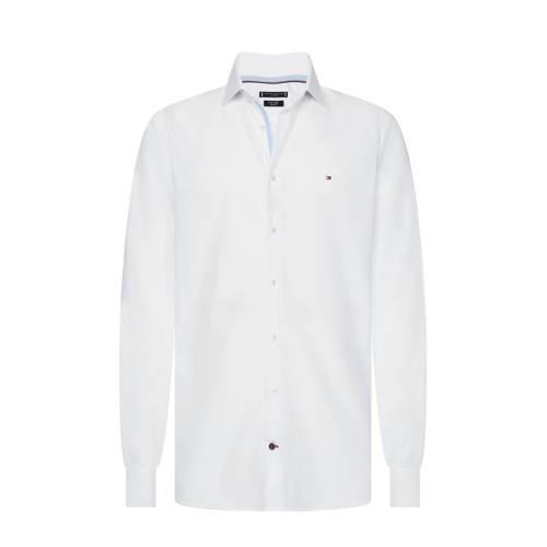 Tommy Hilfiger slim fit overhemd van biologisch katoen wit