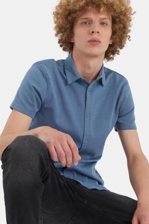 regular fit overhemd Dyon met all over print blauw