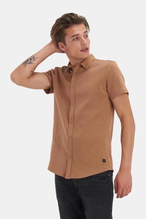 regular fit overhemd Dyon met all over print camel