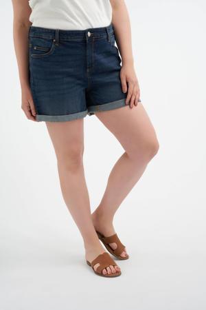 slim fit jeans short dark denim