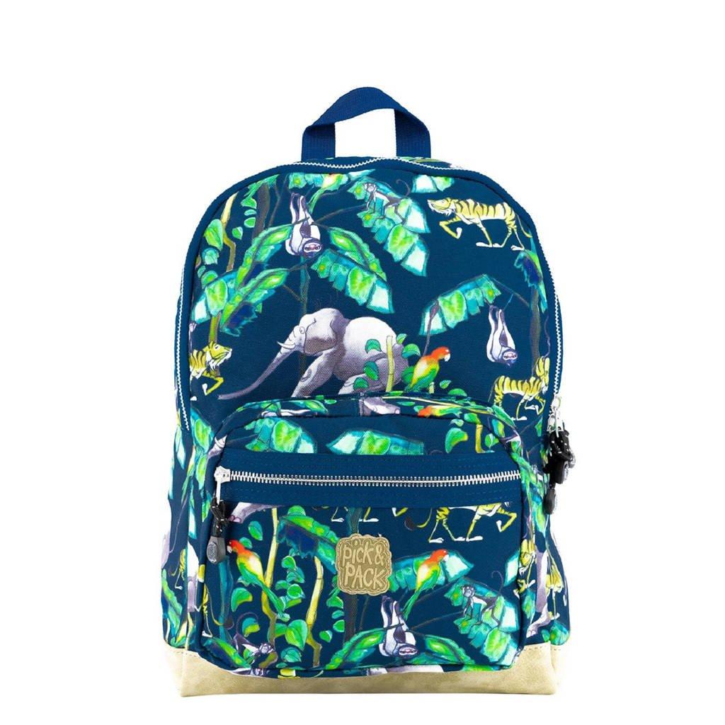 Pick & Pack  rugzak Happy Jungle M donkerblauw, Donkerblauw