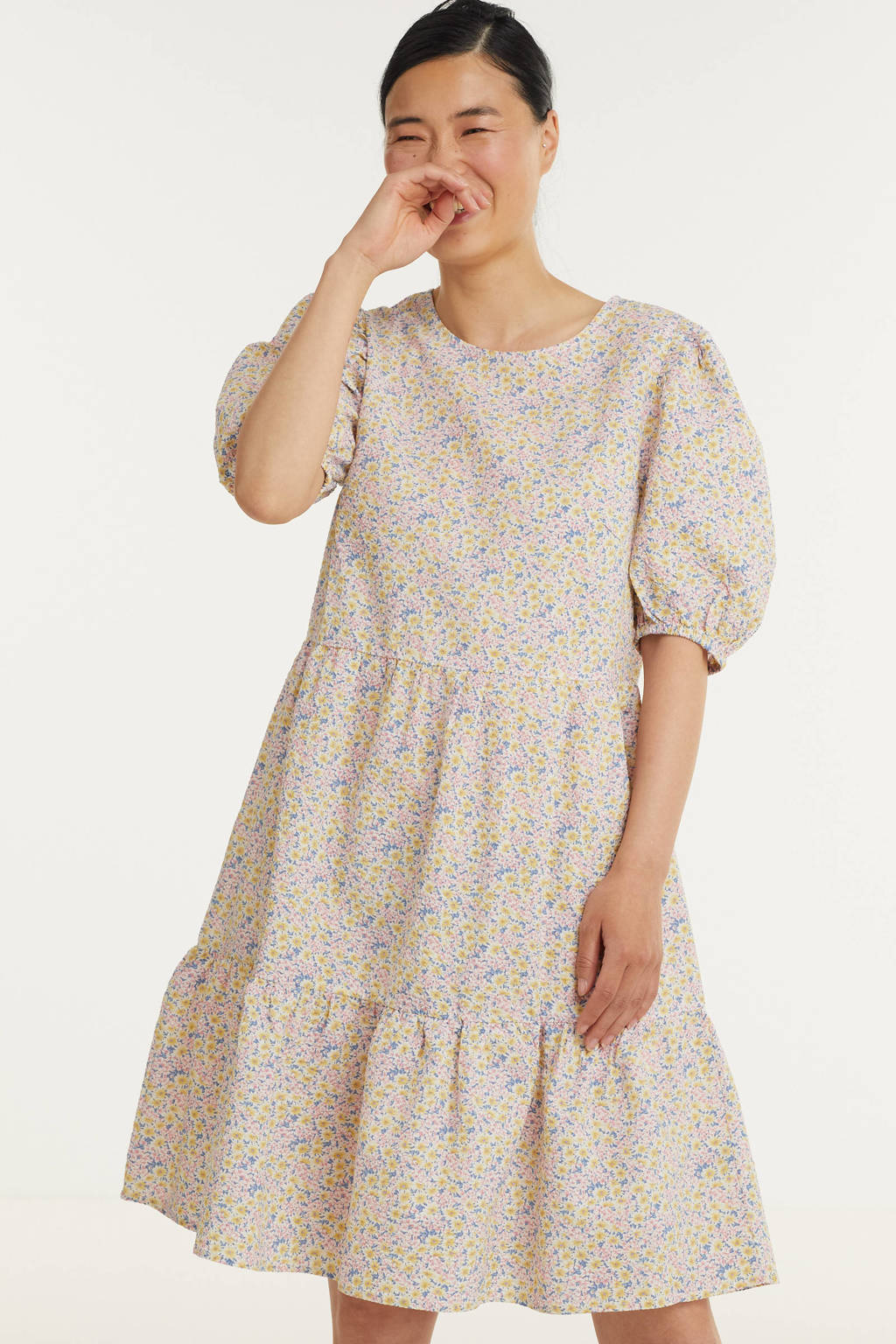 SisterS Point gebloemde trapeze jurk VILKA-DR multi, Multi