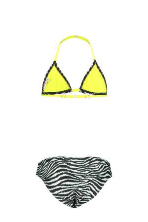 triangel bikini Yoella met zebraprint zwart/wit