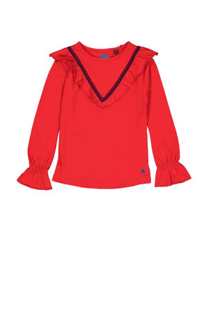 top Kedy met ruches rood
