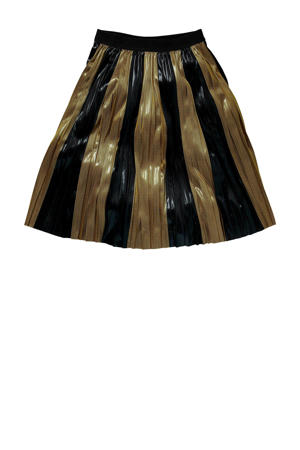 gestreepte rok Kesia goud/zwart