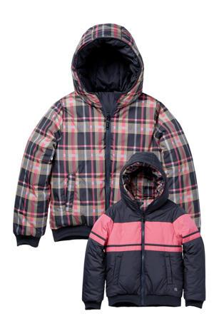 reversible gewatteerde jas Kaylen roze/donkerblauw