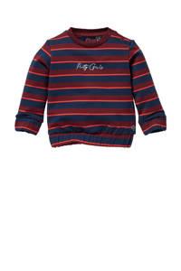 Quapi Mini gestreepte sweater Liselot donkerblauw/rood, Donkerblauw/rood
