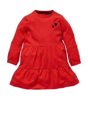 trapeze jurk Lara rood