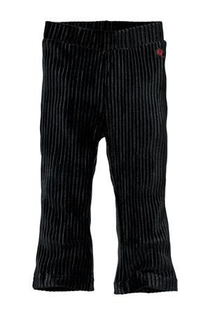 regular fit broek Lorena met textuur zwart