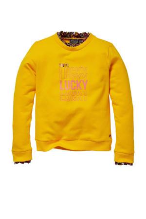 sweater Kato met printopdruk geel