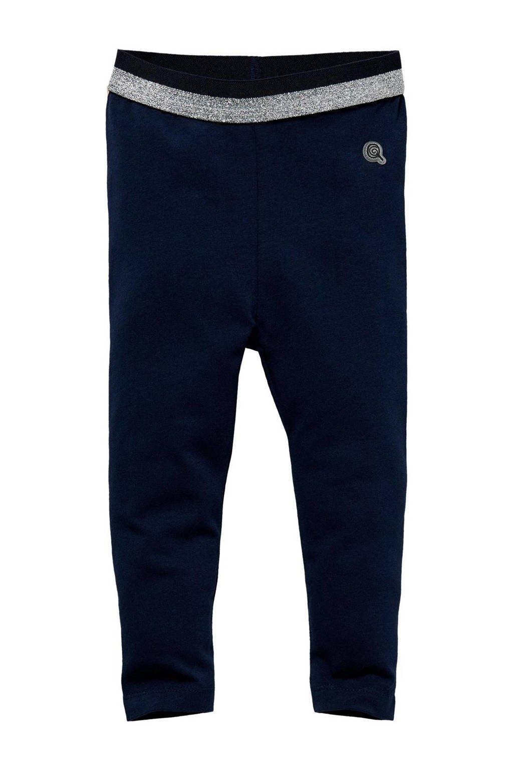 Quapi Mini regular fit legging Lou donkerblauw, Donkerblauw