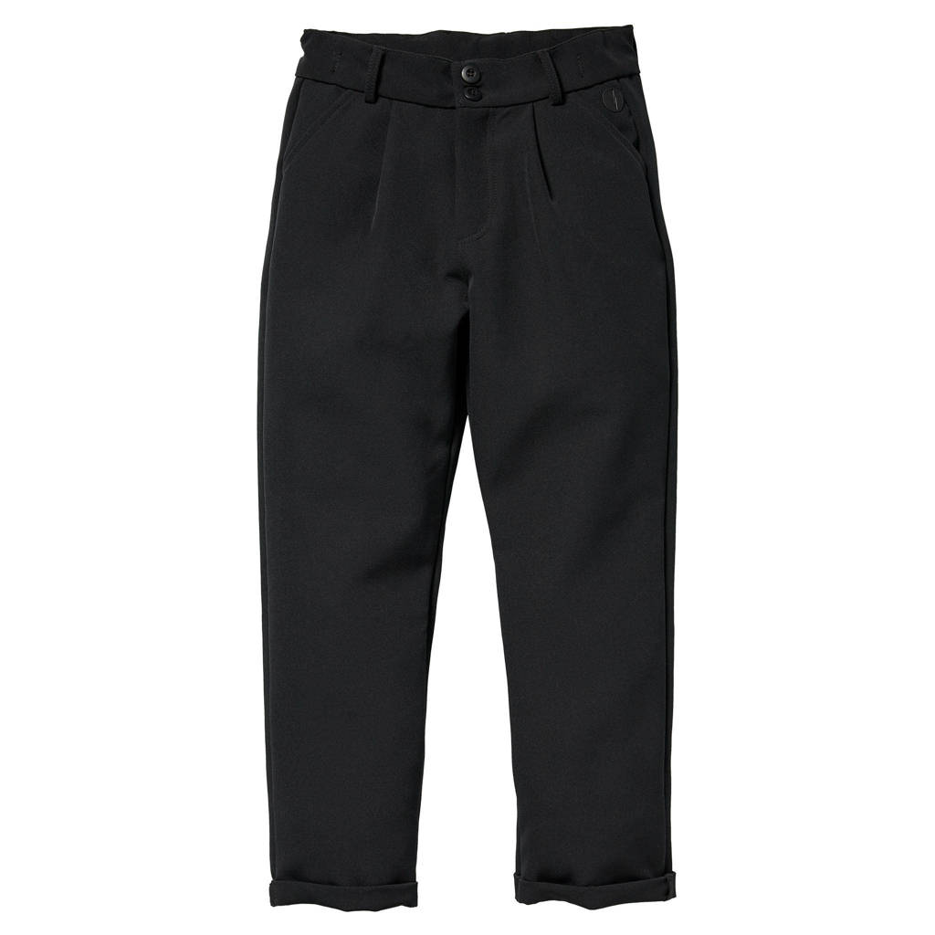 LEVV Girls regular fit broek Ruby zwart, Zwart