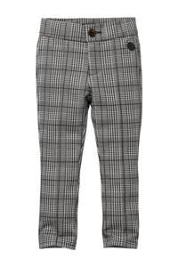 LEVV Little geruite regular fit broek Sophia grijs/zwart, Grijs/zwart