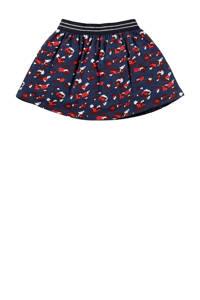 Quapi Mini rok Loes met all over print donkerblauw/rood/wit, Donkerblauw/rood/wit