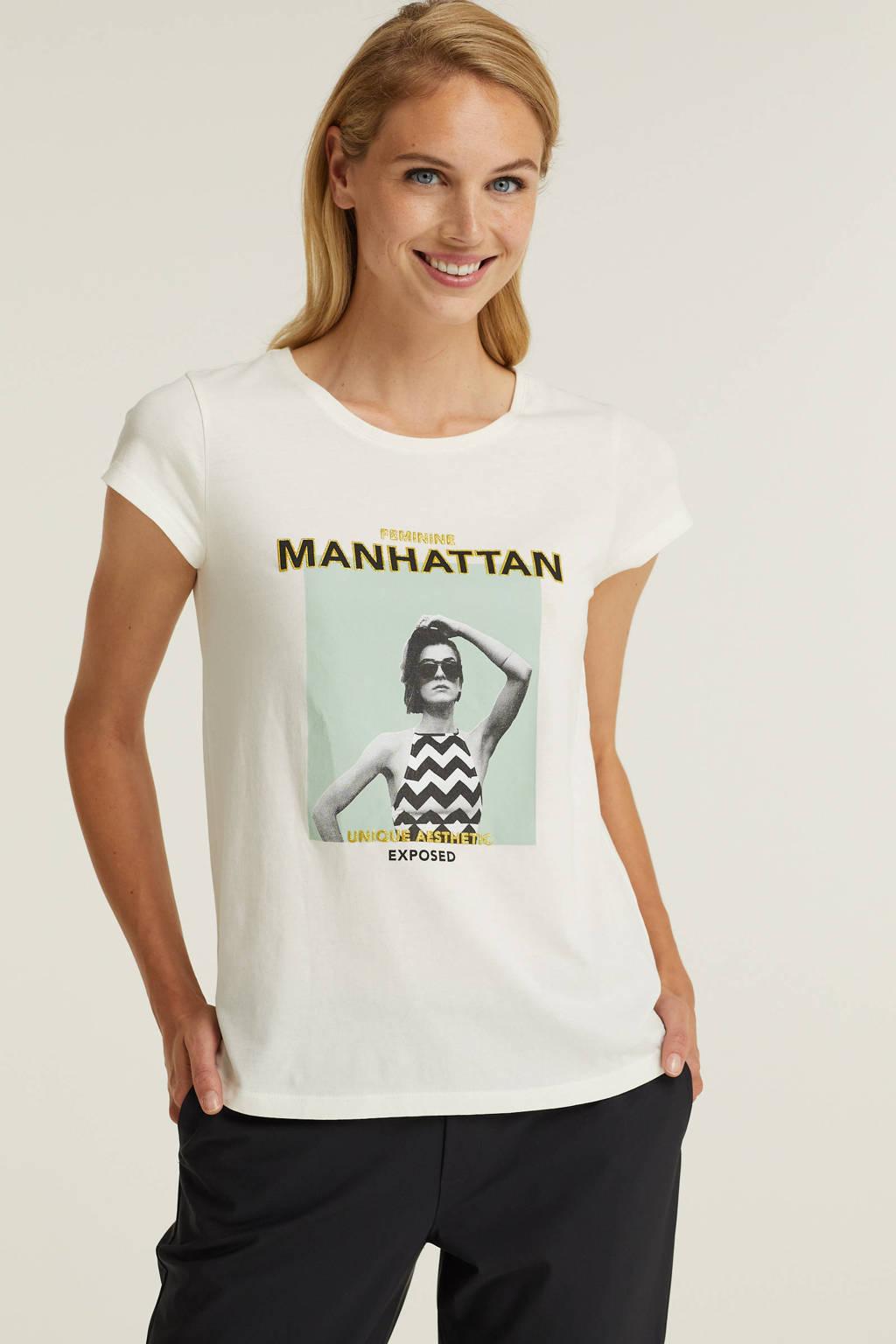 Imagine T-shirt met print, Wit