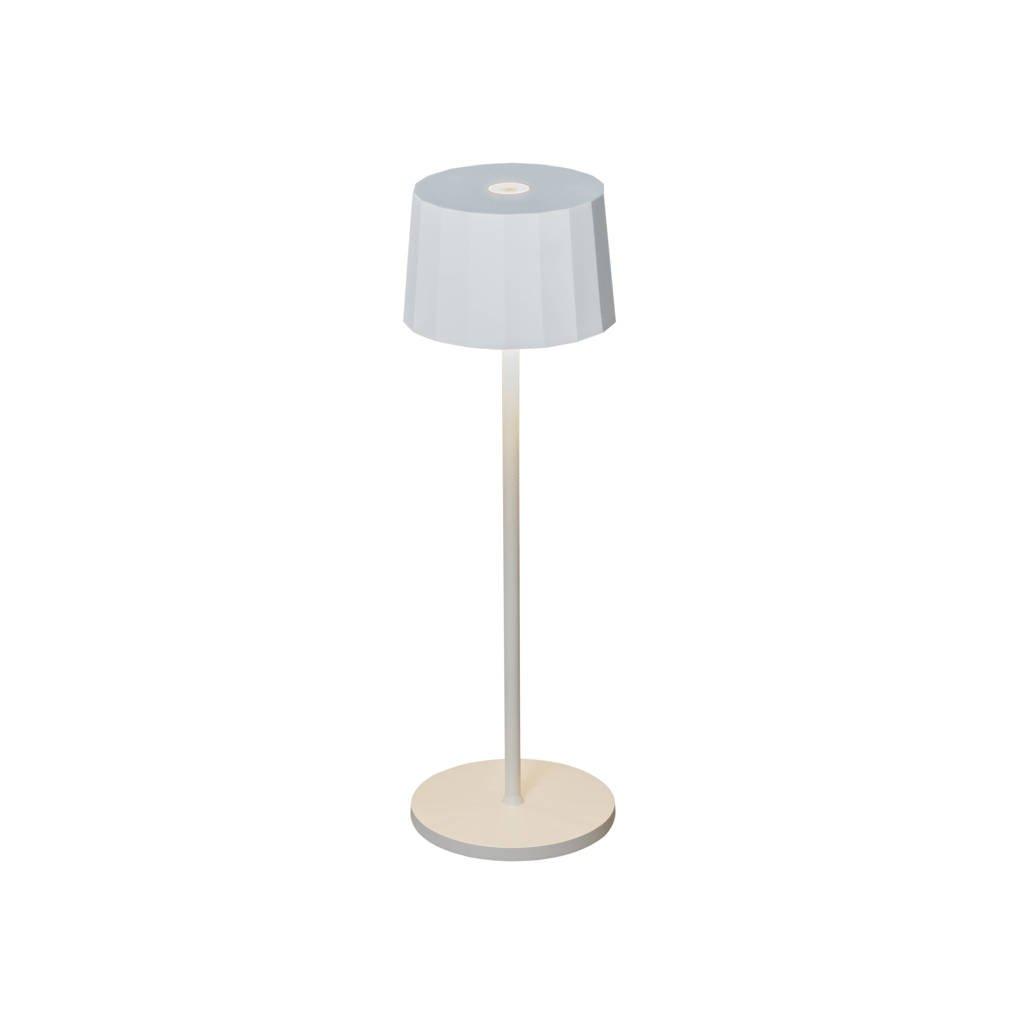 Konstsmide tafellamp Positano, Matwit, extra warmwit