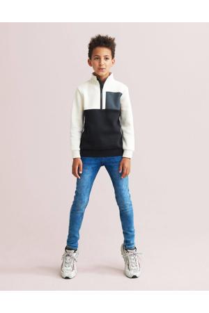 sweater Duke ecru/zwart/grijs