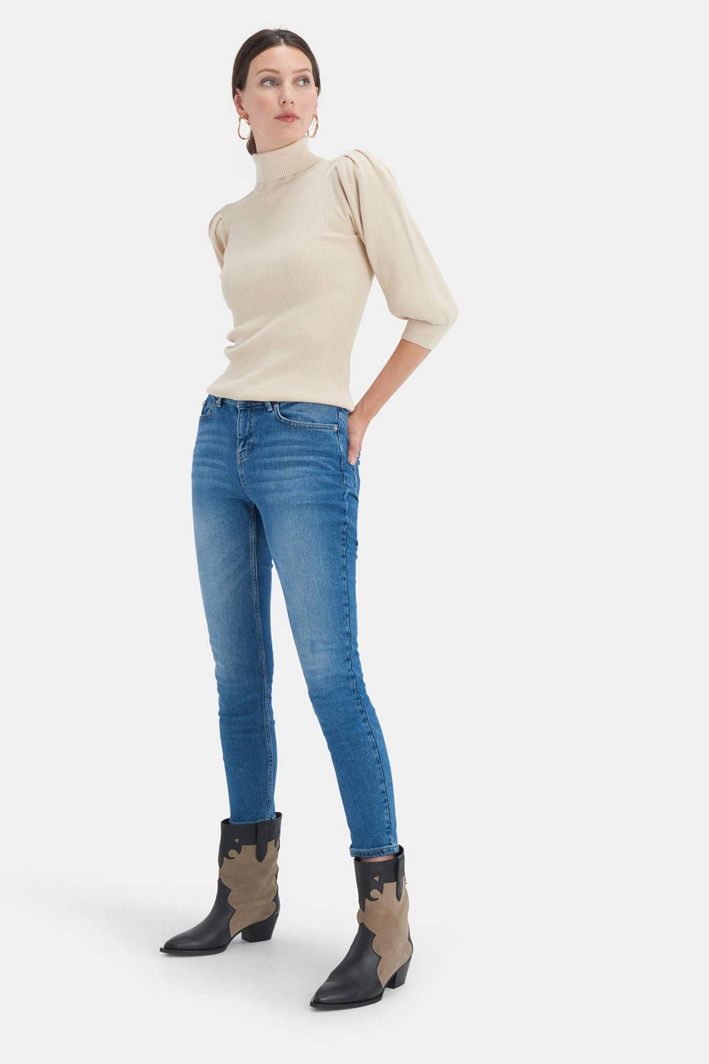 Shoeby Eksept high waist skinny jeans Ametist L28 mediumstone, MEDIUMSTONE