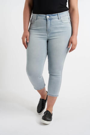 cropped skinny capri jeans light denim