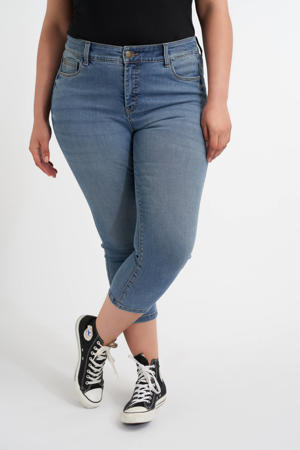 cropped skinny capri jeans donkerblauw