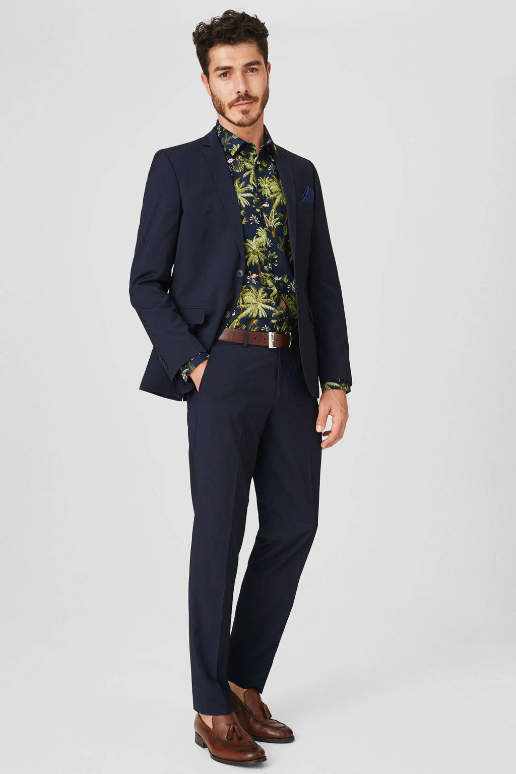 C&A Angelo Litrico slim fit pantalon marine, Marine