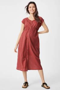 C&A Yessica zwangerschaps- en voedingsjurk roodbruin, Roodbruin
