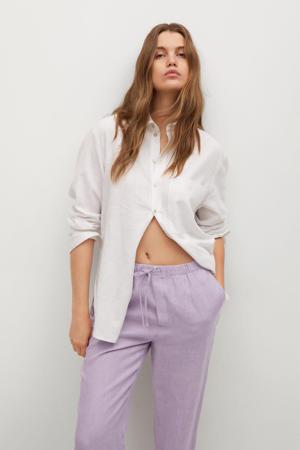 high waist straight fit pantalon lila