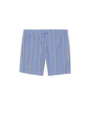 gestreepte pyjamashort blauw