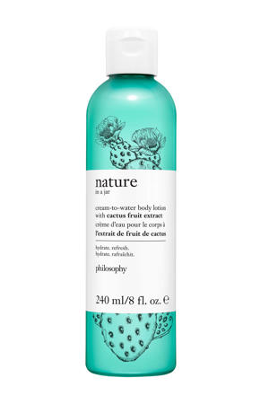 nature in a jar body lotion with cactus fruit extract