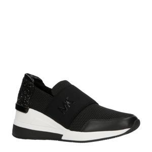 Felix  sneakers met glitters zwart