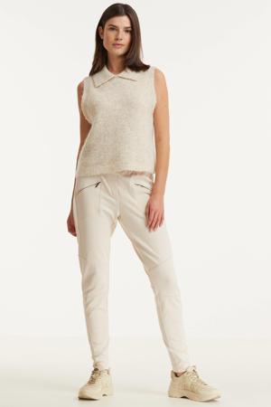 tapered fit broek beige