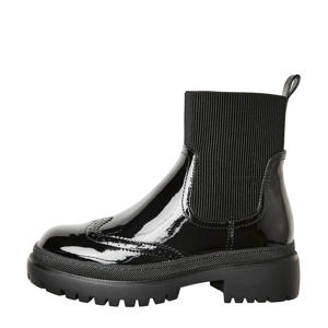VMWIND  lak chelsea boots zwart
