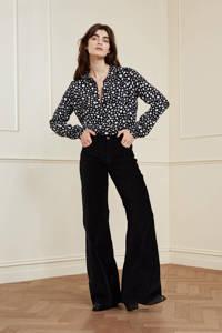 Fabienne Chapot gebloemde blouse Sunrise Tess zwart/ gebroken wit, Zwart/ gebroken wit