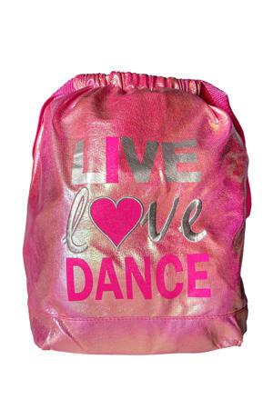 Junior  gymtas Strap Bag roze